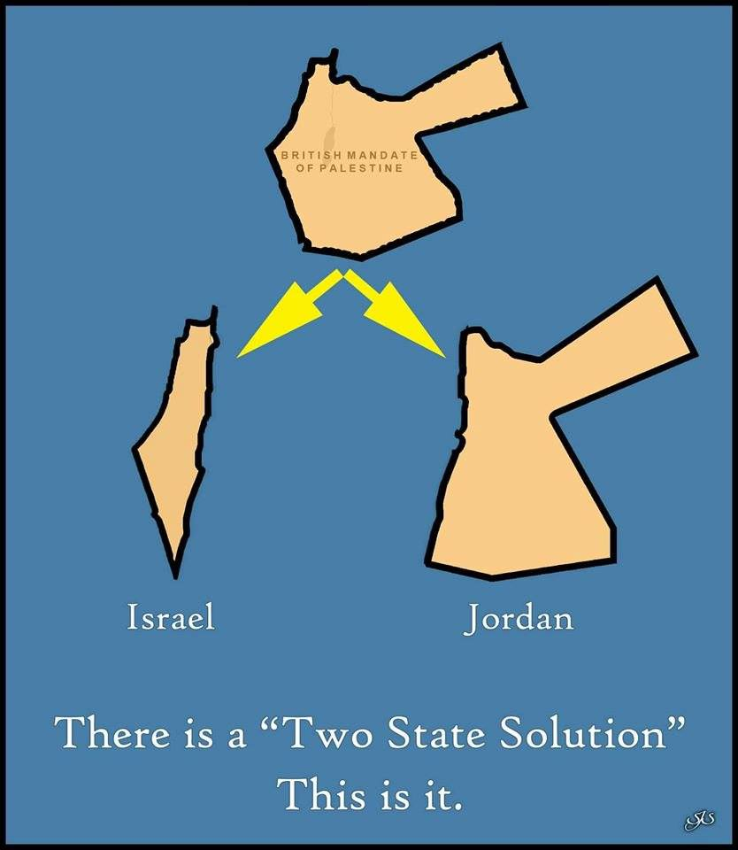 Two State Solution is Jordan