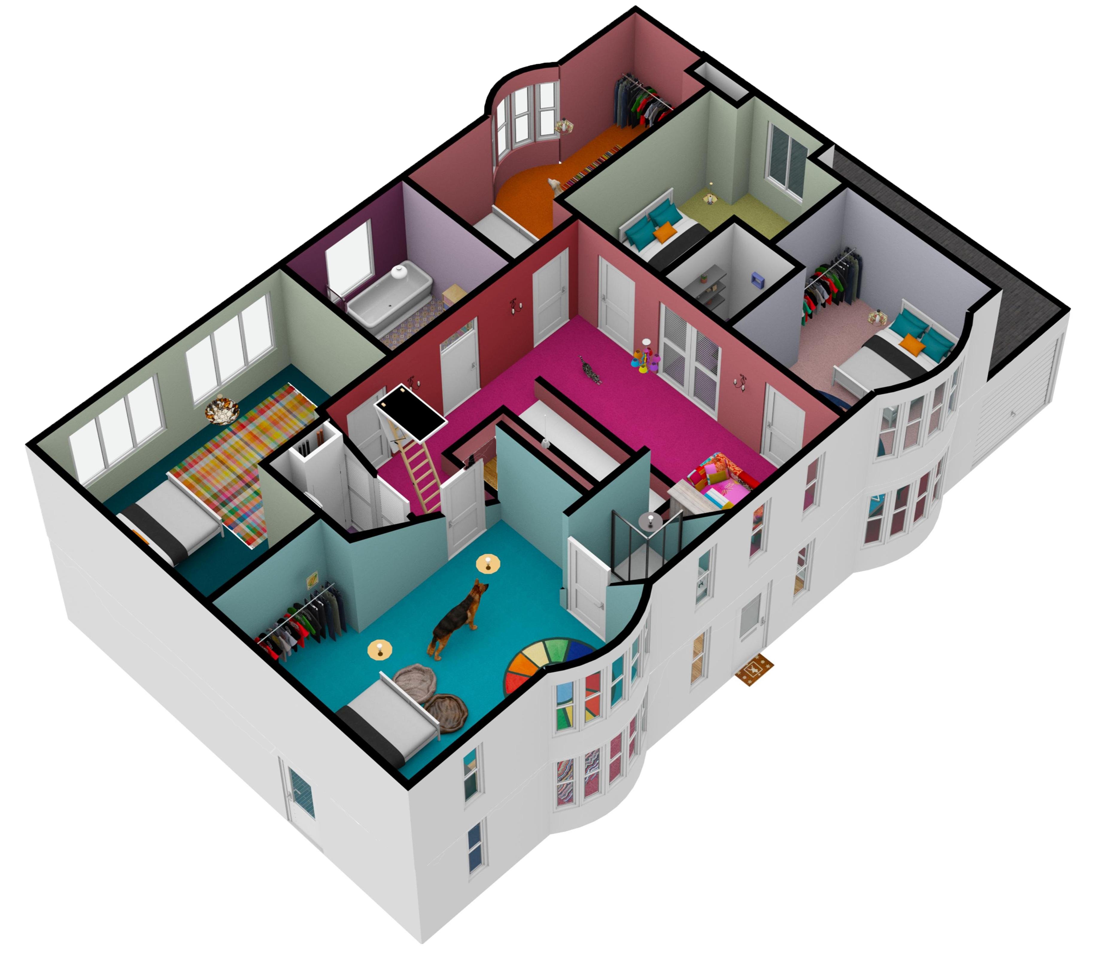 House floors merged